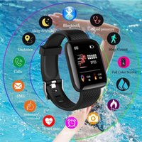 116plus Smart band Bracelet Color Touch screen Wristbands Bracelets Real Heart Rate Blood Pressure Sleep SmartWristband Men Women for IOS Android vs Mi Bands