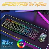 Wired Backlight Keyboard Mouse Mousepad Combos Gaming 2400DPI Регулируемый для Office Caring Компьютерные принадлежности Клавиатуры