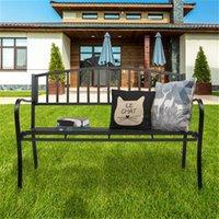 الولايات المتحدة الأوراق المالية حديقة في الهواء الطلق مقعد البدلاء الفناء الشرفة كرسي خمر الفناء الخلفي مقعد الأثاث الحديد الإطار الأسود