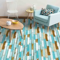 Wall Stickers 3D Floor Waterproof Tiles In Wood Self Adhesive PVC paper For Bathroom Living Room Home Decor 20*300 T200111 UQVT