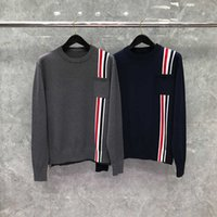 2021 Fashion Thom Sweaters Men Women Slim Fit O-neck Pullovers Clothing Striped Wool Cotton Solid Winter Casual Coatj7tfvkjg