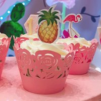 Wedding Favors Rose Laser Cut Lace Cup Cake Wrapper Cupcake Wrappers For Birthday Party Decoration