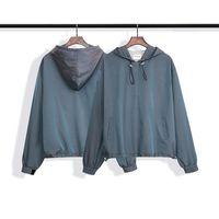 Autumn High Street Fog Fashion Season 6 Men's Main Line Laser Gradient Jacket Windbreaker Jackets