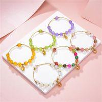 Charm Bracelets Charms Crystal Bracelet Healing Gifts Stone Jades Opal Tourmaline Watermelon Beads Strand Bangle Jewelry 19cm B394