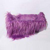 Blankets 60 X 50cm Born Baby Infant Po Blanket Fake Fur Rug Plush Pography Background Props Basket