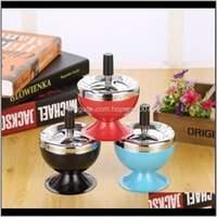 Smoking Aessories Household Sundries & Garden Design Originality Stainless Steel Ashtray High Grade Sealed Ashtrays With Lid Home Use For Man
