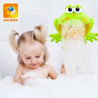 3wbox فقاعة الضفادع الطفل حمام لعبة فقاعة صانع حمام سباحة حوض الصابون آلة لعب للأطفال أطفال مع موسيقى المياه اللعب 1019