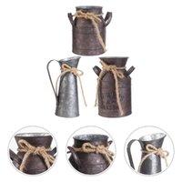 3 قطع زهرة دلو الرجعية الحديد وعاء زهرية الديكور الحلي نمط الريفية حديقة المنزل (دلاء عشوائية