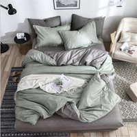 bedding textile solid simple bedding set Modern duvet cover sets king queen full twin bed linen brief bed flat ZHL5327