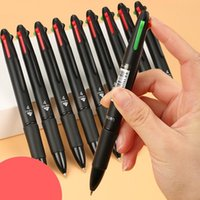 Ballpoint Pens 4 In 1 MultiColor Pen Creative Colorful Retractable Multifunction For Marker Writing Stationery