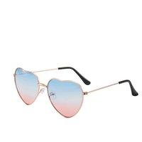 1 шт. В форме сердца тонкие металлические рамки солнцезащитные очки прозрачные конфеты цветные очки шикарные очки причудливый подарок для женщин девушки