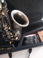 Alta qualità E Flat Alto Saxophone Suzuki Nero Nero Nickel Gold Strumenti musicali Super giocato a quadri professionali