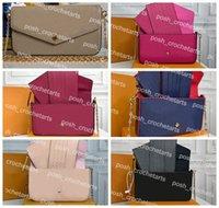 Sac Felicie en cuir en relief pour sacs à main pour femmes Couleur solide Pochette Felicia Multi fonctionnel Pochettes