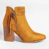MoneRffi High Heel Womens Boots Zipper Tassel Hollow Fashion And Ankle Pointed 2019 Winter New Fashion Trend Boot Socks Biker Boots Fr 90i9#