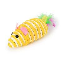 Ratos gato brinquedos bonito divertimento sisal rato gato brinquedo gato mastigar brinquedos interativos Pet corda rato brinquedo jogando brinquedo gatinho teaser brinquedos gwe6988