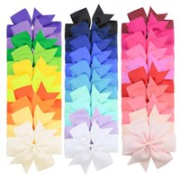 Baby Girls Hairpins Grosgrain Ribbon Bows With Alligator Clips Childrens Hair Accessories Kids Boutique 6inch Bowknot Barrette for toddler