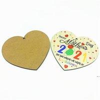 Moda Anne Kolye Mutlu Anneler Günü 2021 Şeftali Kalp Tasarım Kadın Kızlar Renkli Ahşap Anne Kolye Cinnabar DHD5685