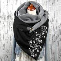 Hats, Scarves & Gloves Sets Fashion Winter Scarf For Women Printing Button Soft Wrap Casual Warm Shawls Foulard Femme Neck Bandana #G2