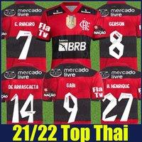 Flamengo Soccer Jerseys 2021 2022 Homem Camisas Diego E.Ribeiro Gabriel B. Gabi Football Jersey Pedro Matheuzinho de Arrascaeta Gerson B.Henrique Camisa Mengo 21/22