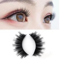 False Eyelashes 7Pairs Makeup Thick Long Eye-catching Fiber Lotus Plate Extensions Eye Lashes Box Package
