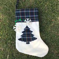 Christmas Stocking Cat Dog Paw Fluffy Santa Socks Snowflake Xmas Tree Parttern Festival Gift Bag 08 1050 B3