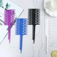 Pennelli per capelli Plastica Professionale Tessuto in tessuto unico di plastica Evidenziazione di Foiling Pettine Salon Tool Dye Seleting Selezione Ed Edge Brush