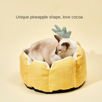 Pineapple Cat Beds Four Seasons Teddy Dog Double Sided Design Wear-resistant Durable General For Cats And Dogs & Furniture