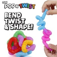 미니 팝 튜브 FIDGET 팝 튜브 트위스트 튜브 감각 장난감 손가락 재미있는 게임 스트레스 불안 릴리프 짜기 파이프 스트레치 텔레스코픽 벨로우즈 2397 Q2