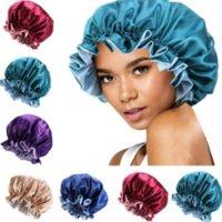 Silk Night Cap Hat Dwukrotnie Udaj Kobiety Head Cover Cap Satin Bonnet Dla Piękne Włosy - Obudź się Perfect Daily Factory Sprzedaż CPA3306