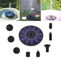 نافورة الطاقة الشمسية جولة المياه مصدر نافورة المياه المنزلية الديكور حديقة بركة حمام السباحة الطيور حمام الشلال