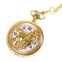 Wholesale 100pcs lot Animal Dial Pendant Necklace Chain Quartz Case Diamater 4.7CM Horse Pocket Watch PW092