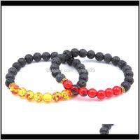 Beaded, Strands Drop Delivery 2021 7 Chakra Gemstone Natural Stones Stretch Bracelets Yoga Reiki Prayer Beads Lucky Bracelet Jewelry Lz815 Zr