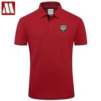 MYDBSH Marka Giyim erkek Kurt Polo Gömlek Iş Moda Katı Kısa Kollu Erkek Nefes Polo Gömlek Casual Tops 210329