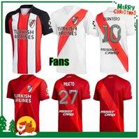 20 21 نهر لوحة لكرة القدم الفانيلة G.Martinez Quintero Pratto Borre 2021 Riverbed Football Shirt Man + Kids Kit