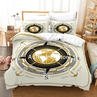 Bedding Sets Design Compass Set Quilt Cover Anchor Print Duvet With Pillowcase 200X200 King Size Bedroom For Children Bed