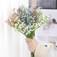 Decorative Flowers & Wreaths Plastic Bouquet Gypsophila Home Decor Wedding Living Room Party Decoration Artificial Dried Plants