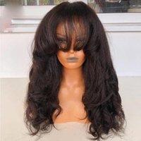 Yaki Dritto Remy 360 parrucca di capelli umani frontale del pizzo 13x6 anteriore anteriore ondulato con baby seta Top Pieno U Particole parrucche