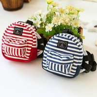 Pet Dog Denim Striped Backpack Puppy Cat Carrier Pocket Bag With Leash Outdoor Travel Packet Teddy Traction Rope School S L Car Seat Covers