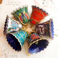Handgemachte Cloisonne Craft-Email-Filigran-Fancy Bell Charms Schlüsselanhänger bunte Weihnachtsbaum hängende Anhänger dekorative Geschenke