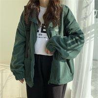 Women's Jackets ZOGAA Women Plus Fleece Hoodies Autumn Streetwear Zip-up Oversize Sweatshirt Jacket Solid Pocket Turn-down Collar Outwear