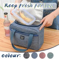 Storage Bags Canvas Waterproof Cooler Bag Insulated Thermal Lunch For Women Picnic Bento Food Portable Box Tote