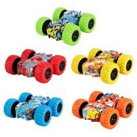 5pcs Kid Toys Inertia Car 2 Sided Inertia Car Four-wheel Drive Big Foot Toy Off-road Vehicle Children Hot Wheels Stunt Car Toy