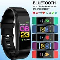 ID115 PLUS Plus Smart Bransoletka Watchband Fitness Tracker Watch Tętna Watchbands Wristbands do telefonów komórkowych z Androidem z pudełkiem