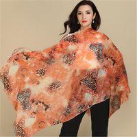Scarves Large Size Pure Goat Cashmere Women Fashion Printed Thin Scarfs Shawl Pashmina 70x200cm Small Tassel Orange 6color