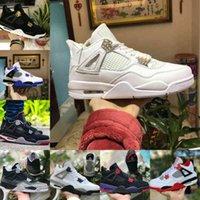 Air Jordan 4 retro jordans  Nike Verkauf 2021 gezüchtet Black Cat 4 4S Basketballschuhe Männer Herren Motorsports Weißer Zement Encore Wings Fire Red