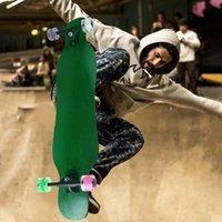 스케이트 보드 105 cm 댄서 롱 보드 더블 로커 스케이트 보드 오프로드 스케이트 보드 4 색 번쩍 이는 바퀴 메이플 데크 초급 브러시 스트레