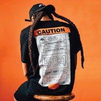 Zsiibo diseño de moda de gran tamaño camiseta retro hiphop camiseta hombres skateboard high street drak tokyo ghoul divertido t shirt masns precaución 504 impresión tee tx37528