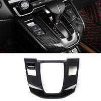 Car Accessories Gear Shift Panel Knob Boots Top Trim Cover Frame Sticker Interior Decoration for Honda CR-V 5th 2017-2020