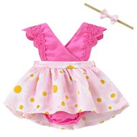 Clothing Sets Baby Girls Floral Romper Dress Born Outfits With Headband 0-24 Months Spring Girl Clothes