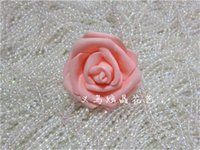 wholesale-high quality 100pcs lot 7cm foam rose heads artifical fower heads mint green tiffany blue flowers wedding decoration 764 R2